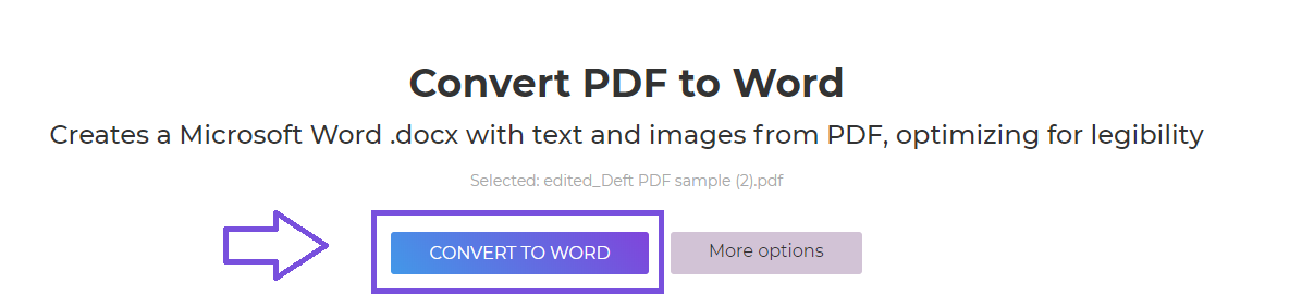 DeftPDF_convert to word