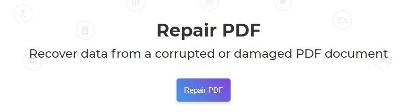 DeftPDF_repair PDF files