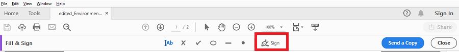 DeftPDF Sign in Adobe Reader
