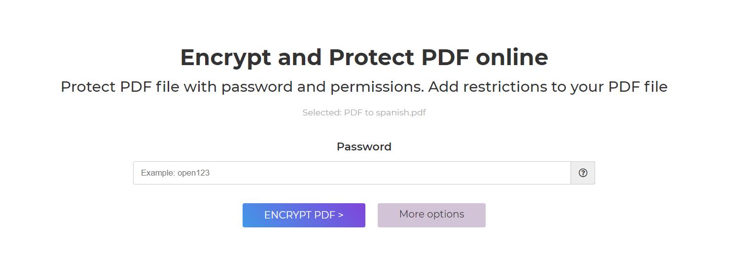 encrypt PDF online