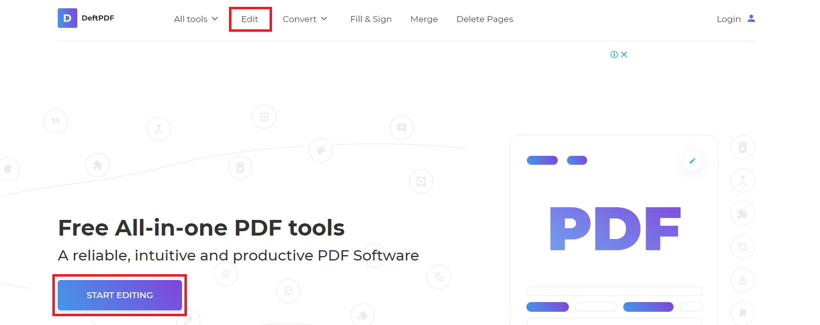 edit PDF using deftPDF