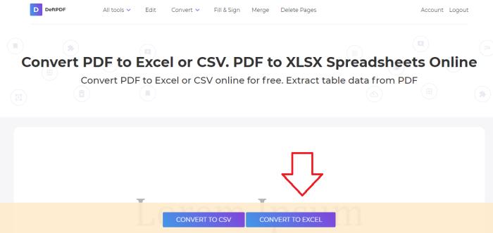 deftpdf pdf to excel