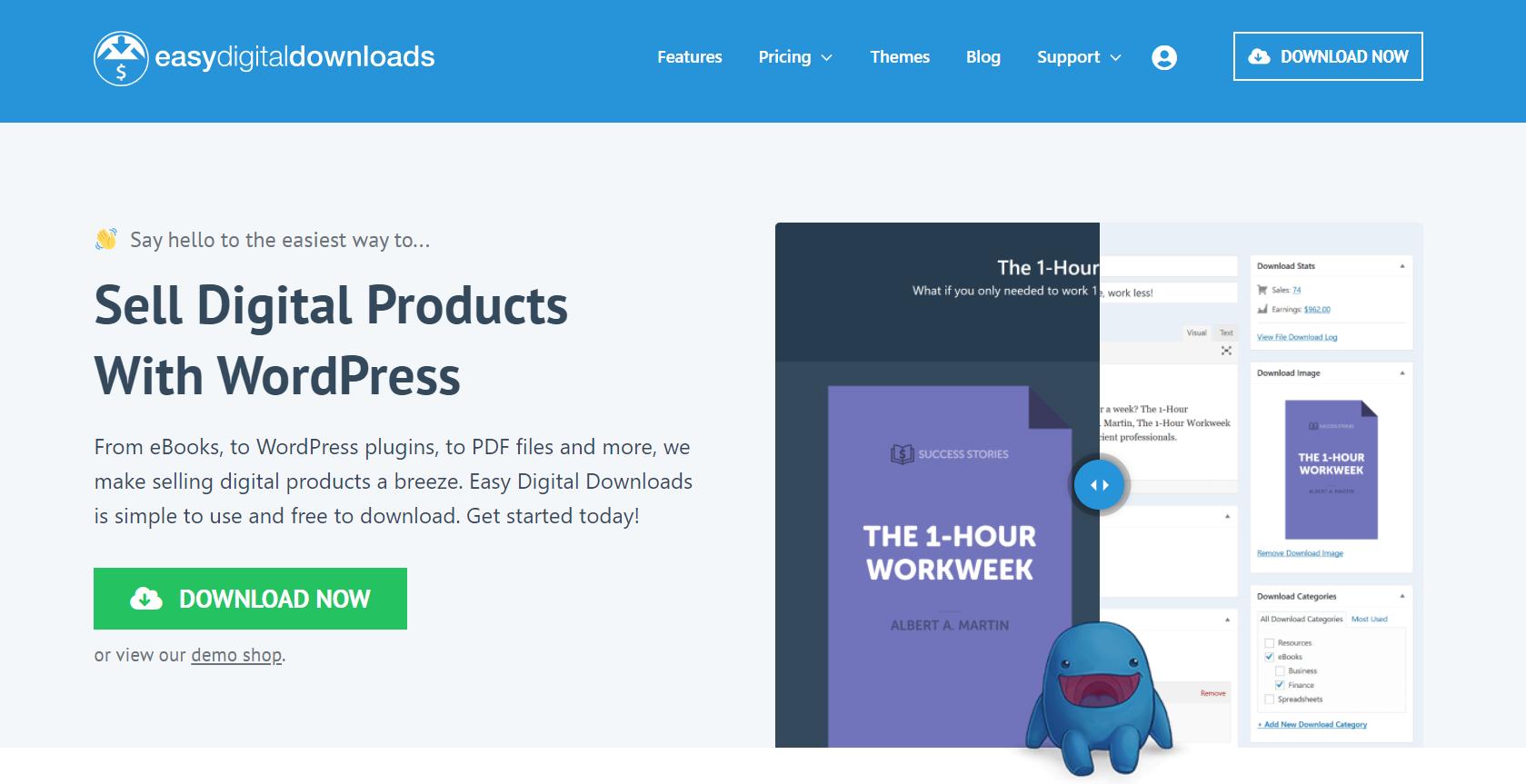 easy digital downloads plugin for wordpress