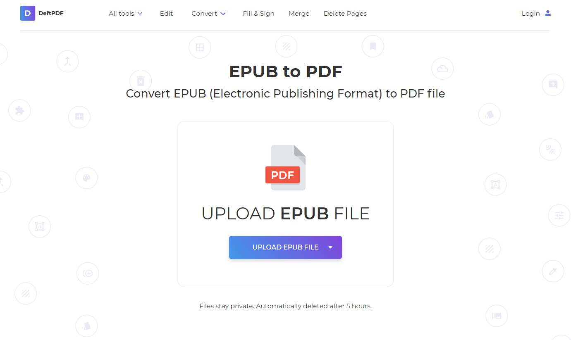 deftpdf epub to pdf converter
