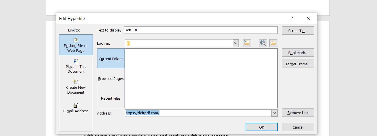 saving hyperlinks in Word to PDF