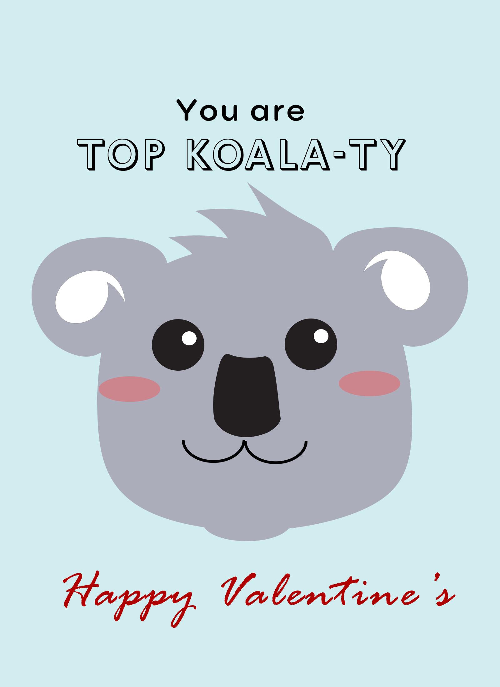 koala ecard for valentines