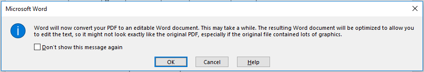 DeftPDF Word Notification to convert