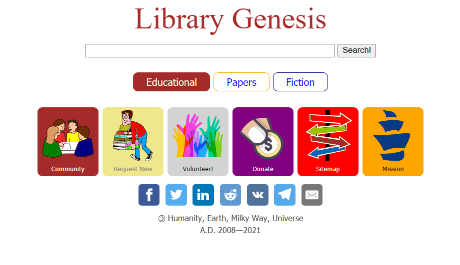 search library genesis