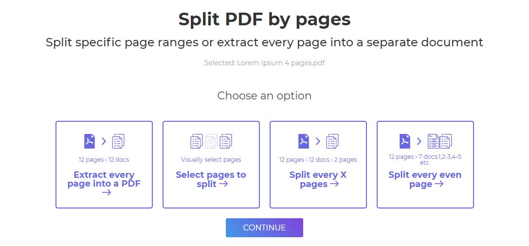 DeftPDF_ split pdf pages