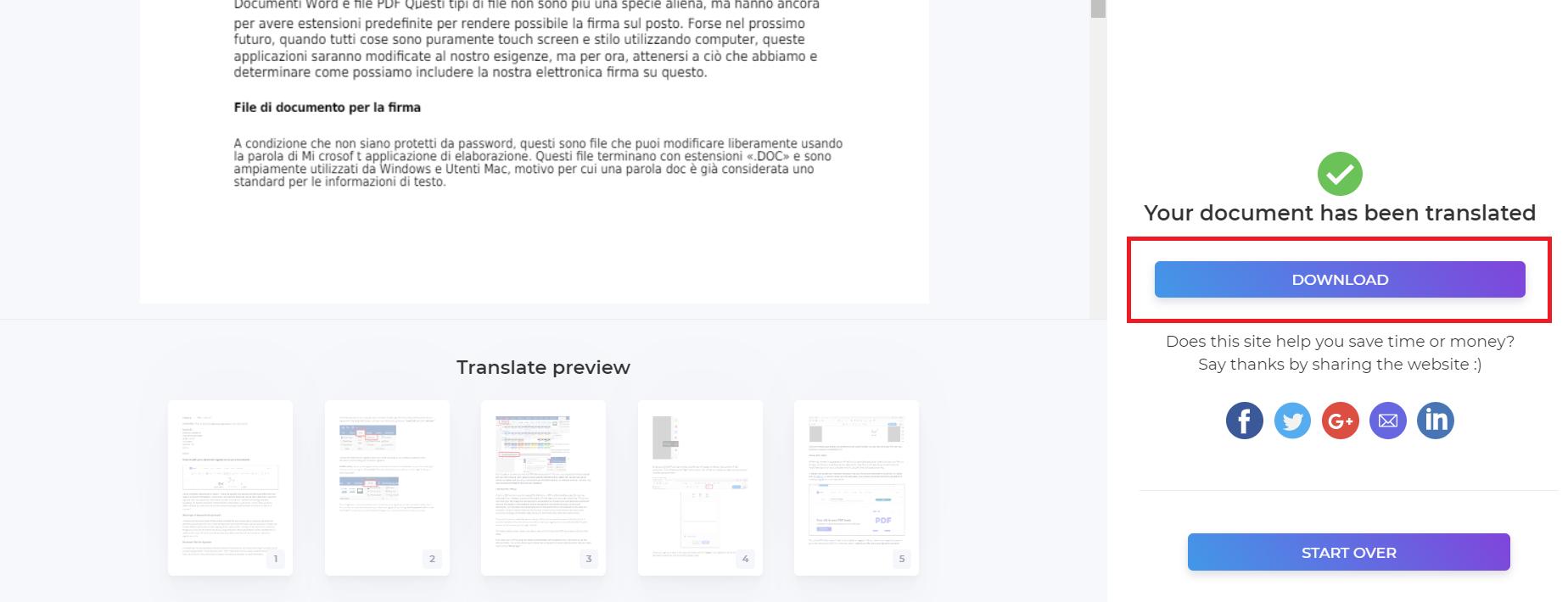 Free PDF or Word Document Online Translator using DeftPDF