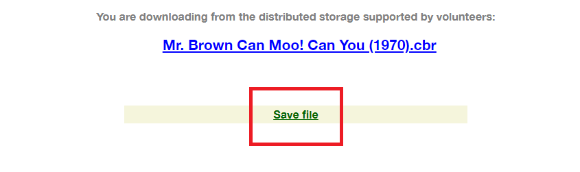 save the file after downloading