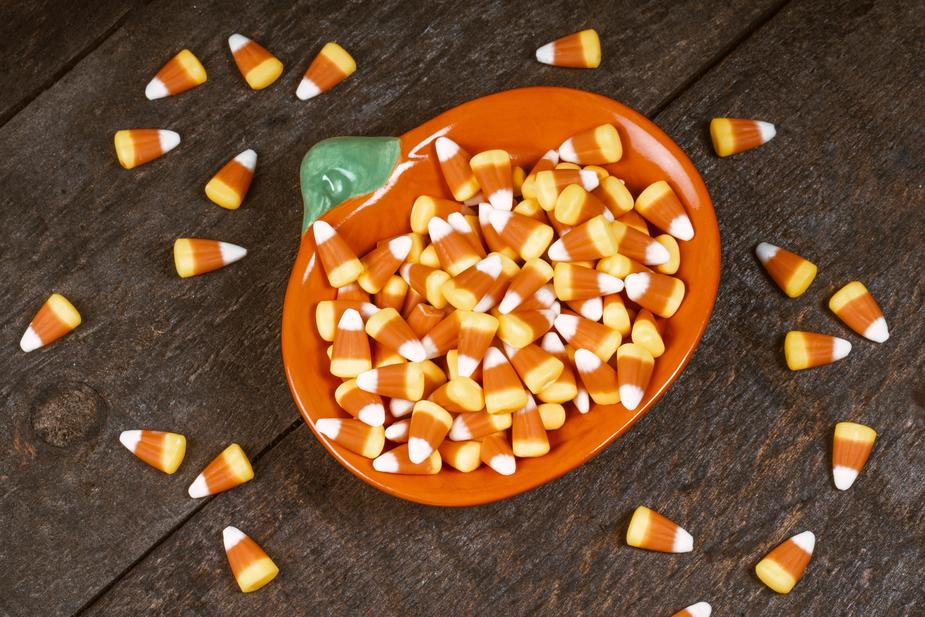 sweet tooth and candy corns for halloween