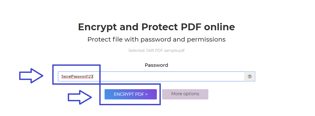 DeftPDF_secret password