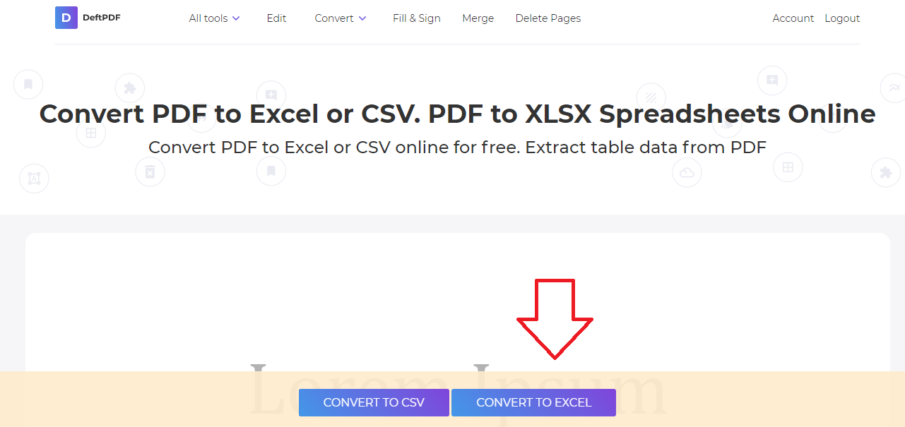 Convert PDF to Excel or CSV  PDF to XLSX spreadsheets online