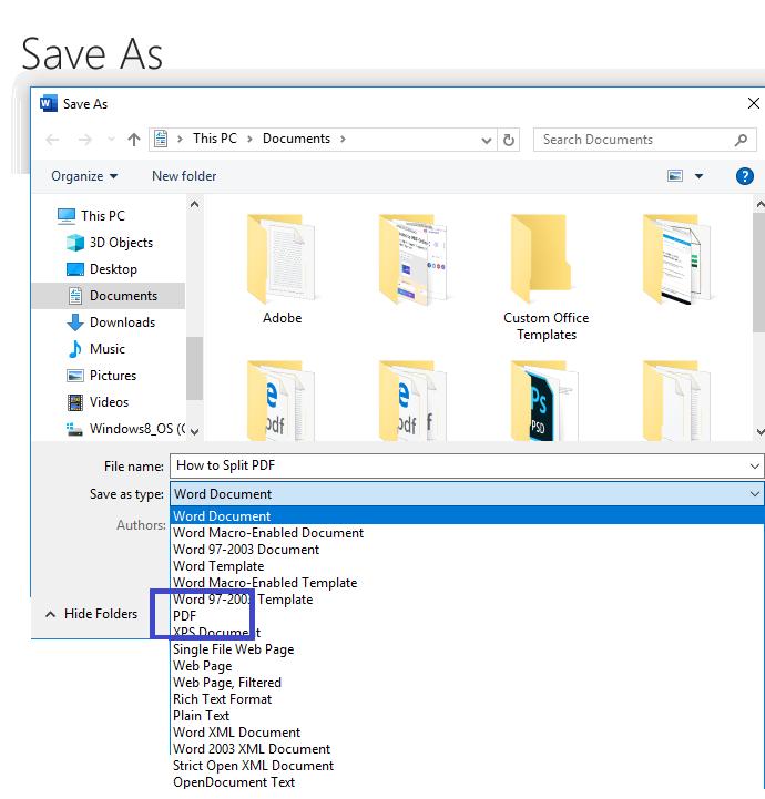 DeftPDF save word to PDF