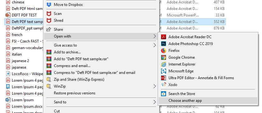 DeftPDF_rightclick to change default PDF viewer