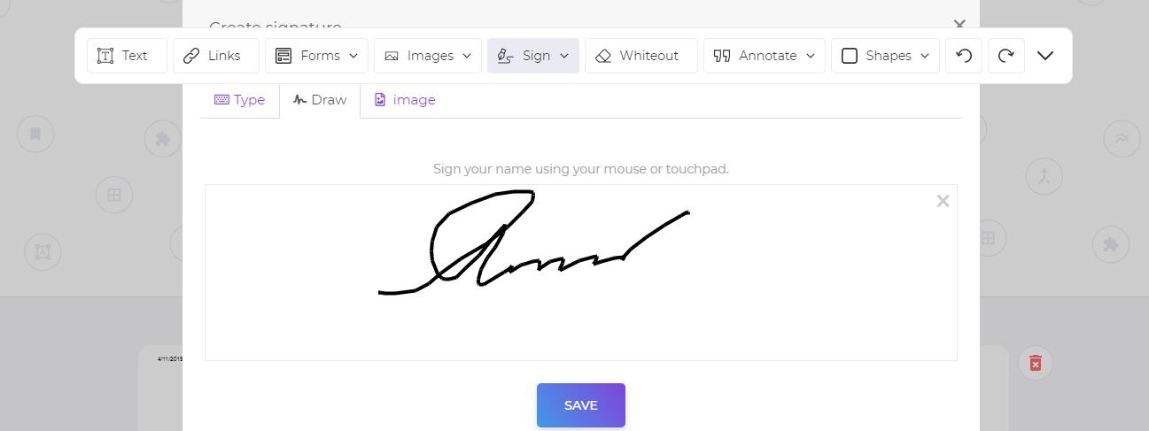 DeftPDF online PDF editor electronic signature