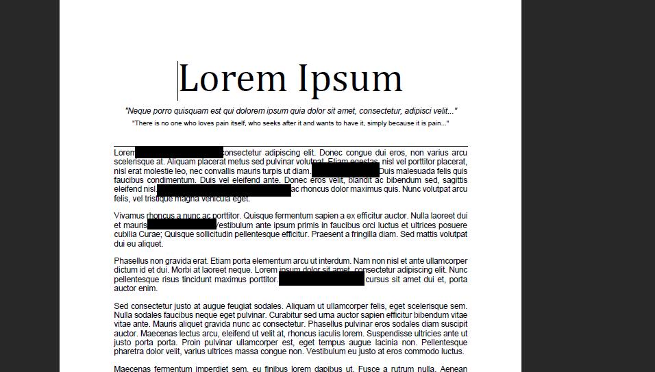 redacting information