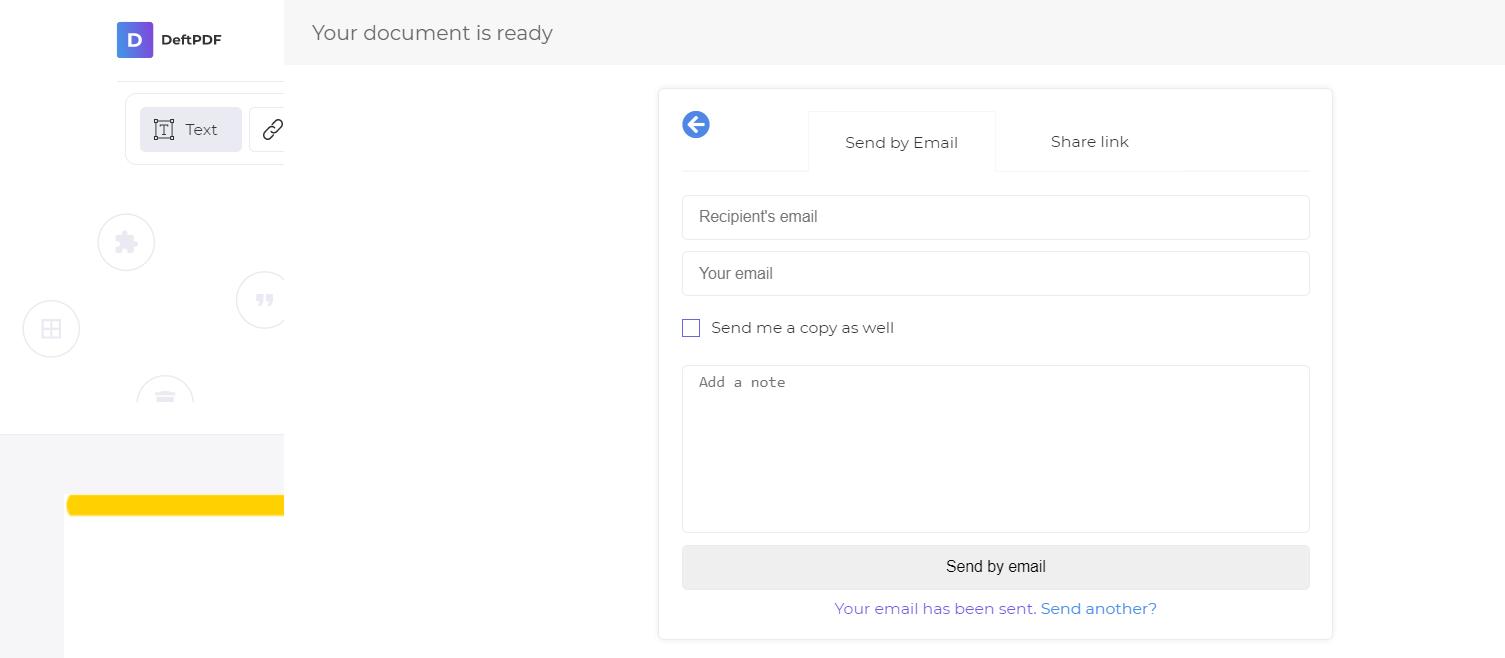 send via email by deftpdf