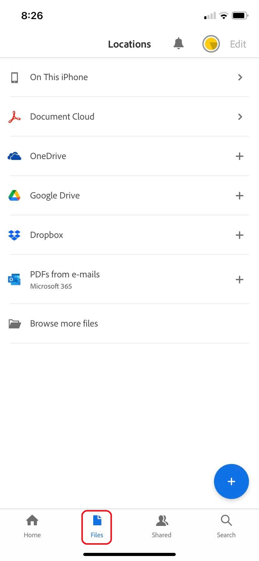 open your PDF on local device