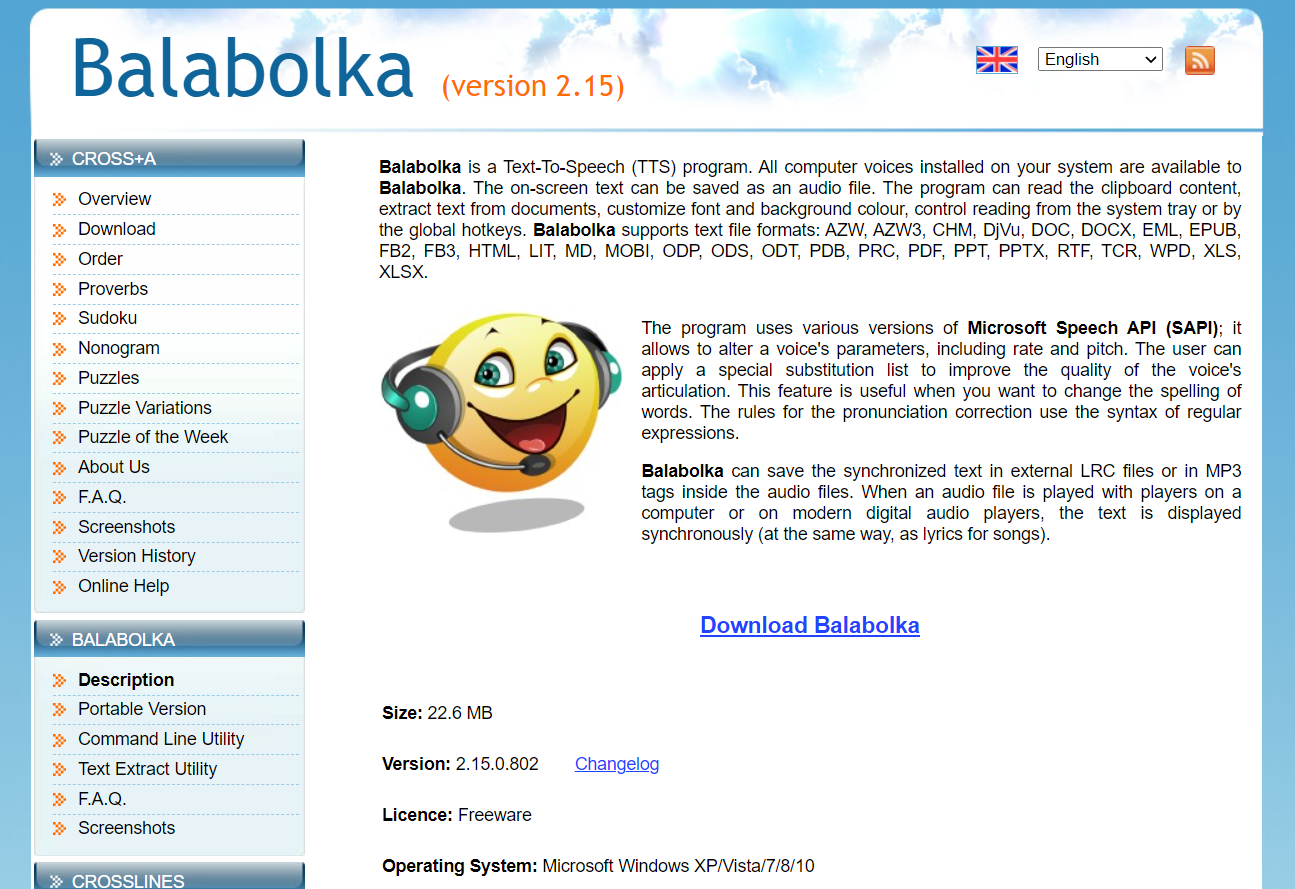 balabolka free read aloud app