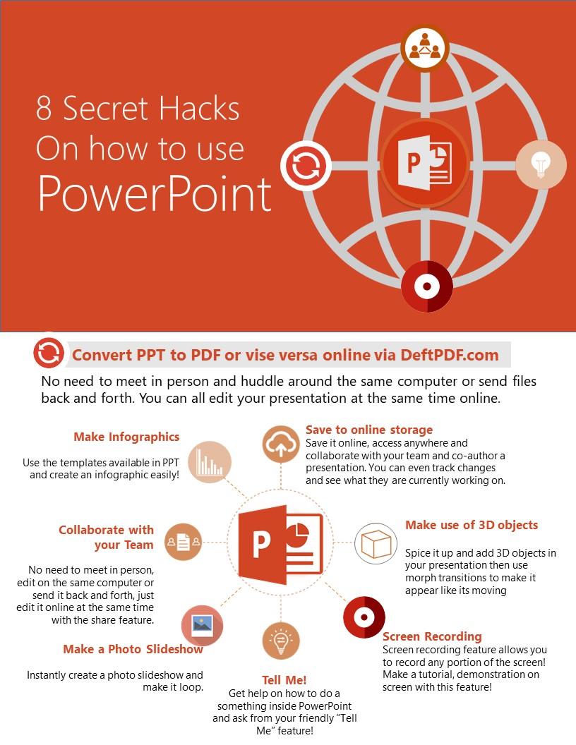 Infograpic of DeftPDF on PPT hscks