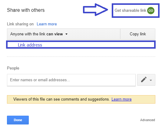 DeftPDF share PDF as a link with Google Drive