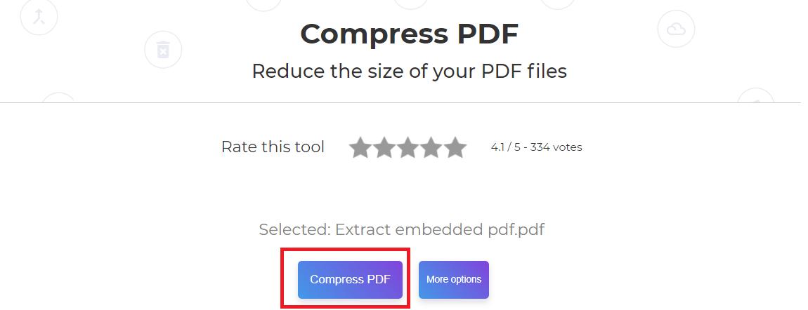 deftpdf compress tool for pdf