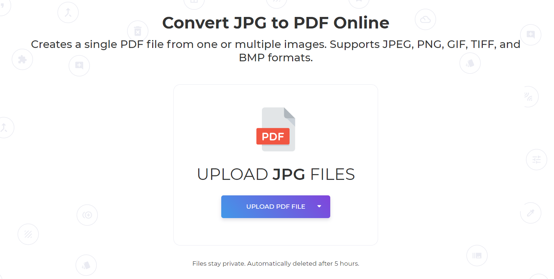 DeftPDF JPG to PDF tool