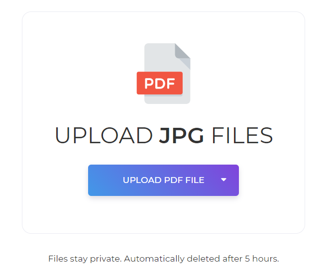upload file to convert to PDF