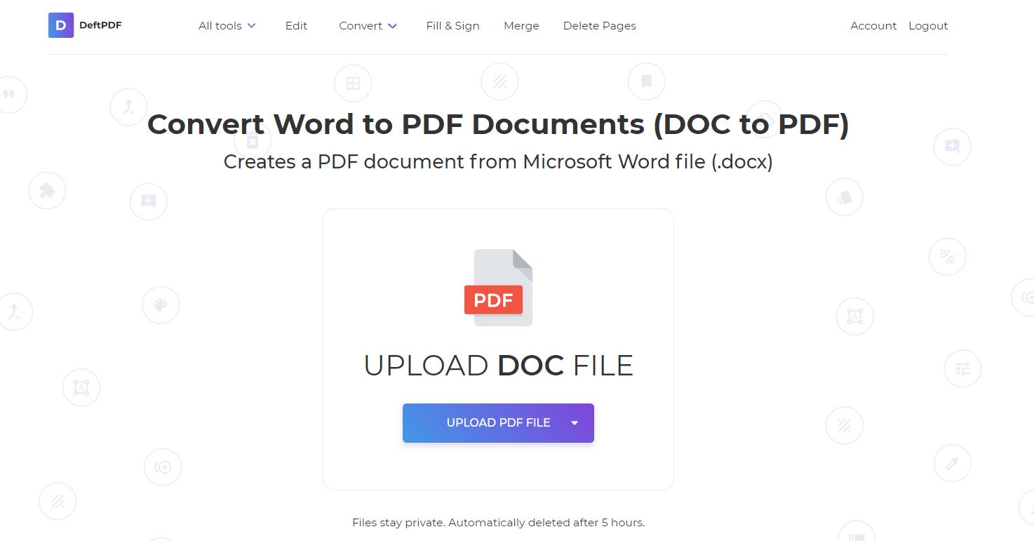 doc to pdf using deftpdf