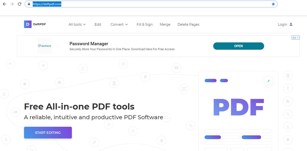 DeftPDF online PDF editor