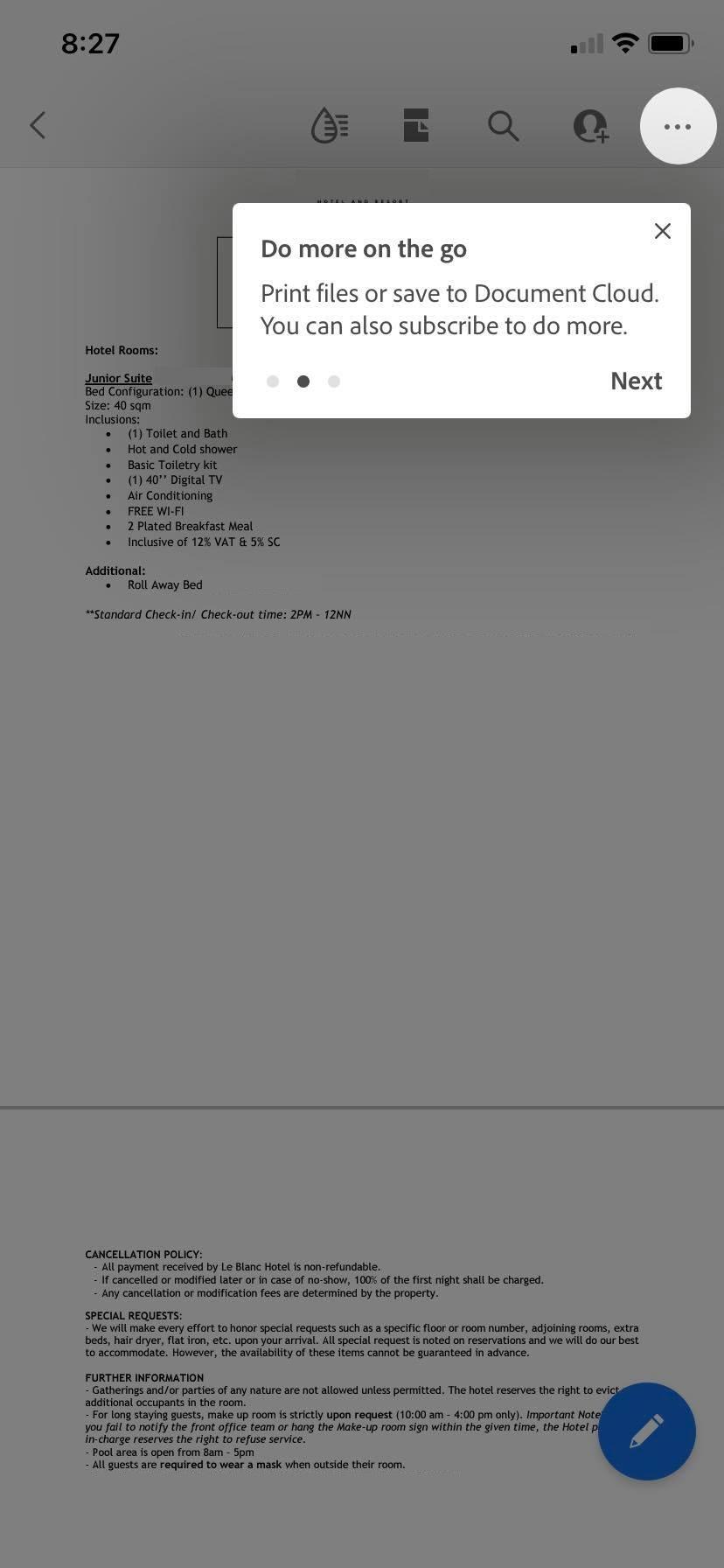 print pdf on mobile