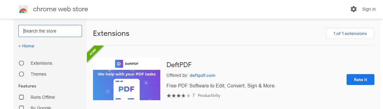 DeftPDF chrome extension