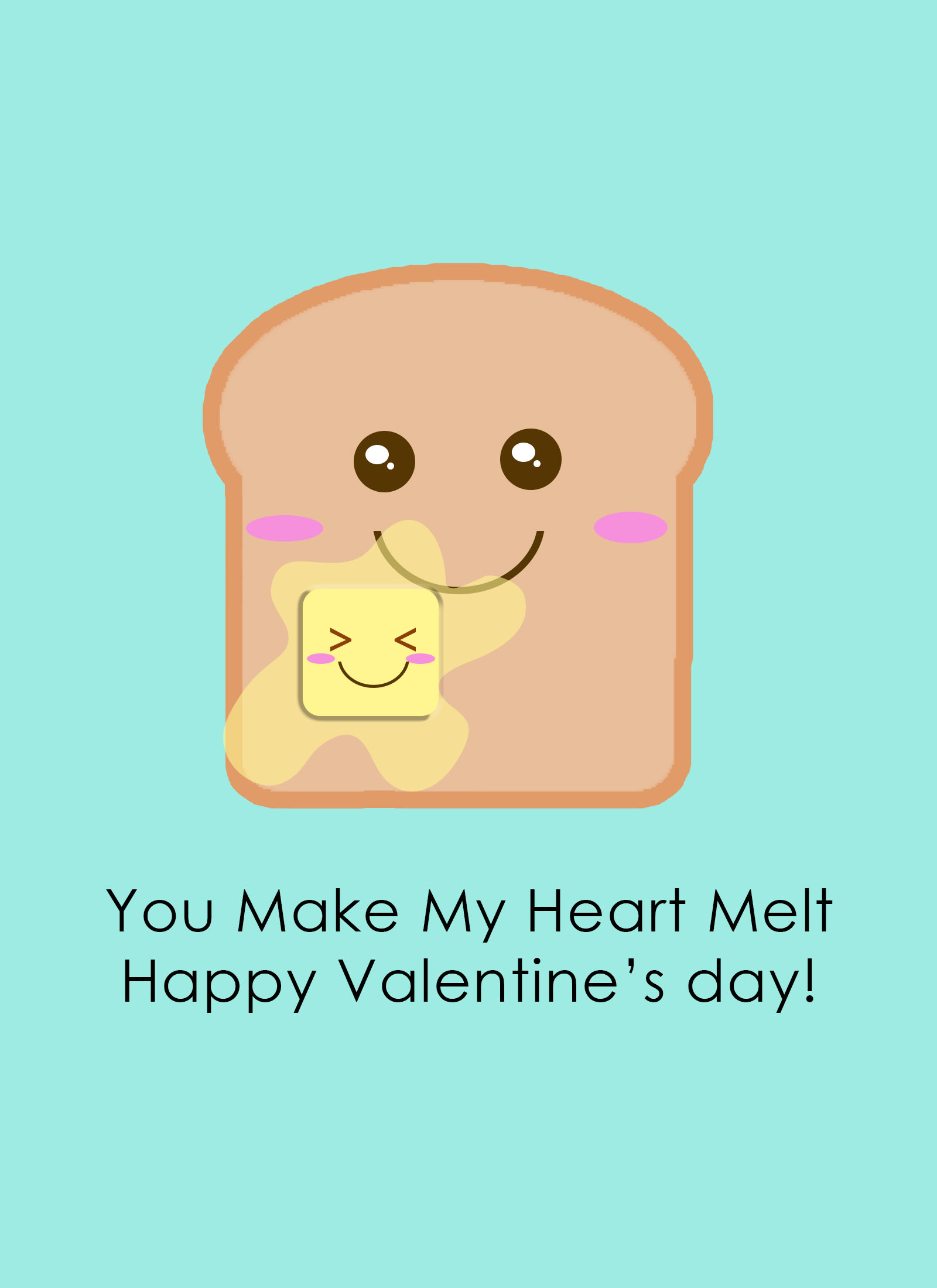 toast ecard for valentines