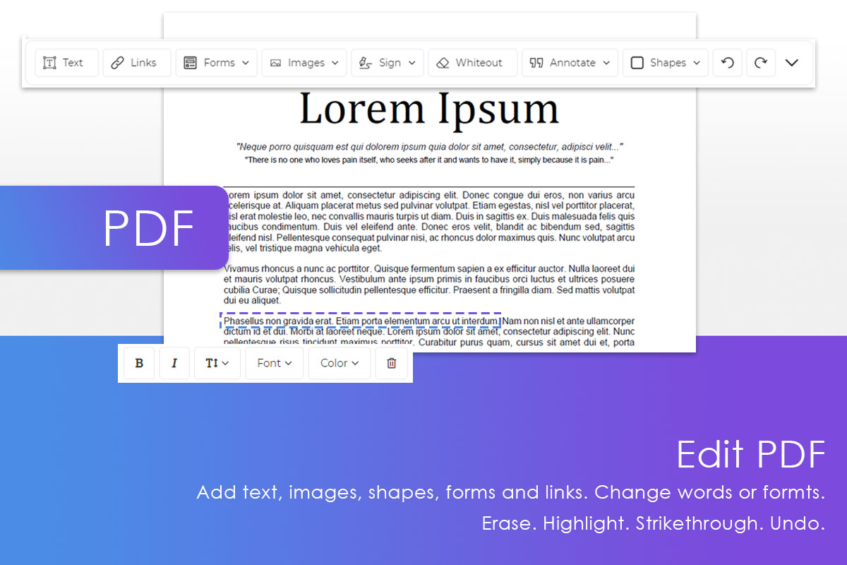 DeftPDF eCard making by using PDF editor