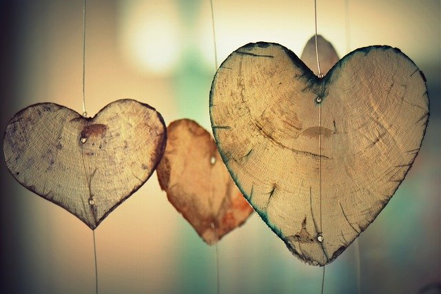 hearts from parchment