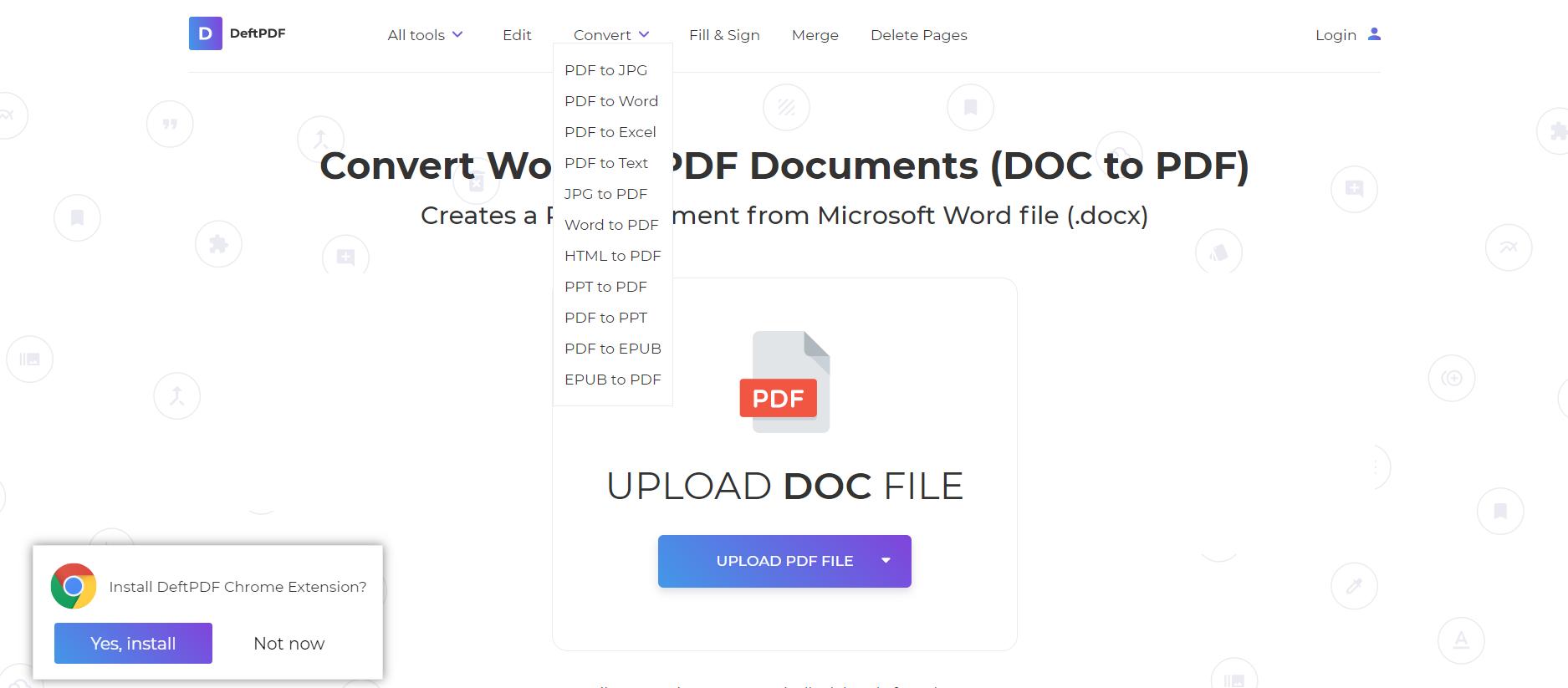 convert tools at DeftPDf