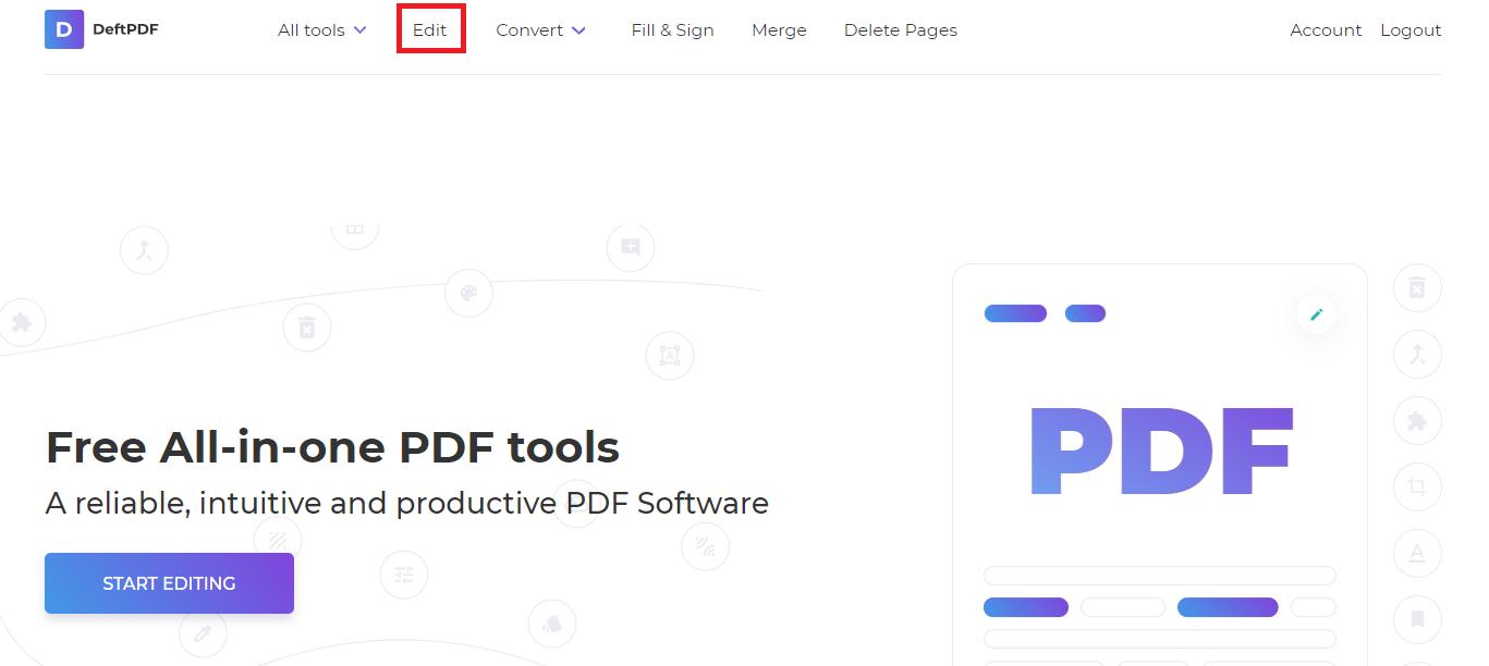 editing existing fonts in deftpdf by choosing edit tool