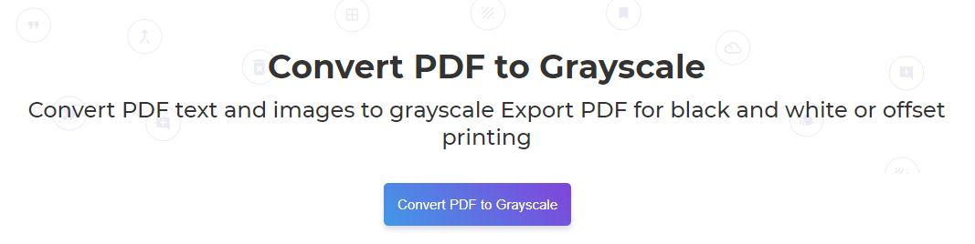 DeftPDF grayscale convert