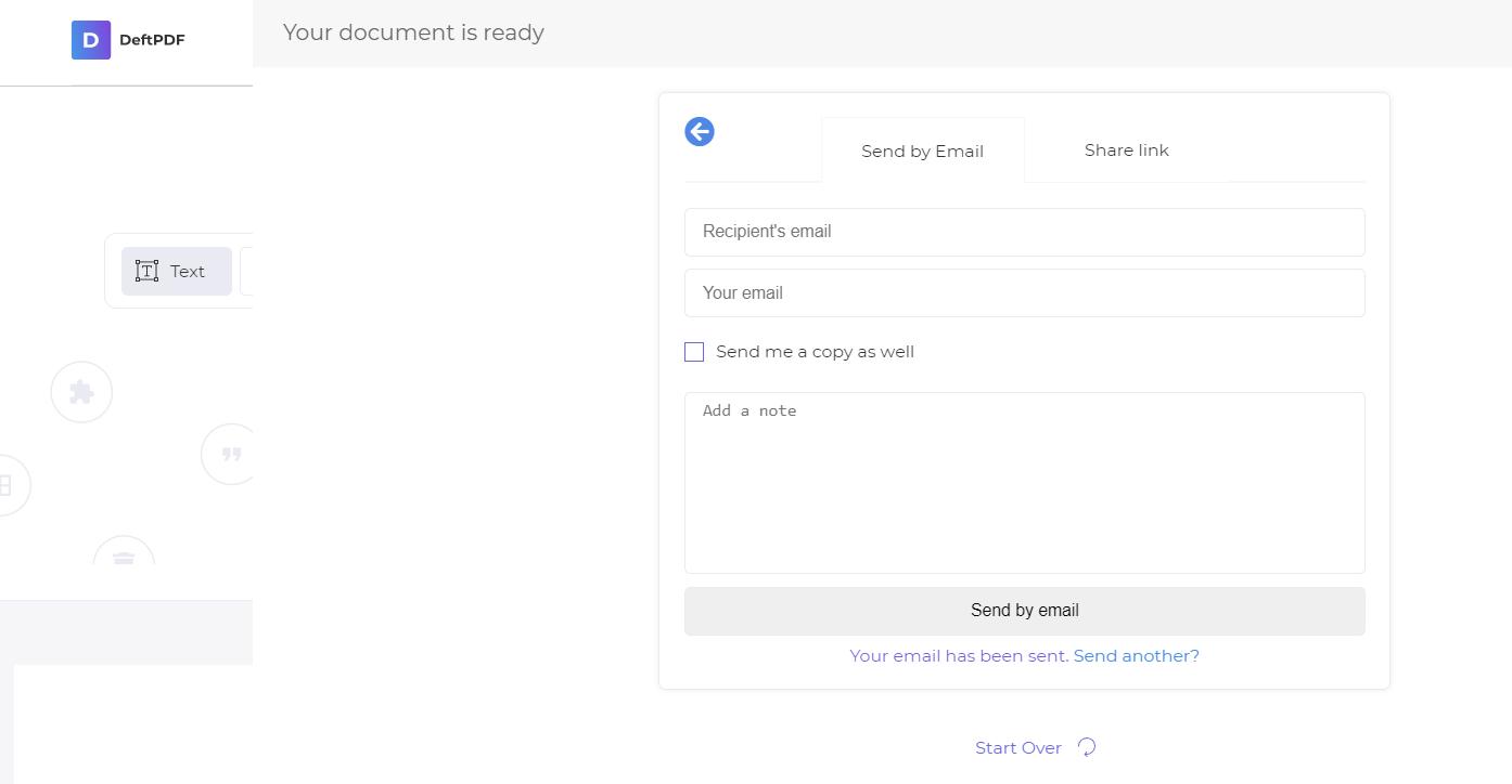 send back the PDF to sender