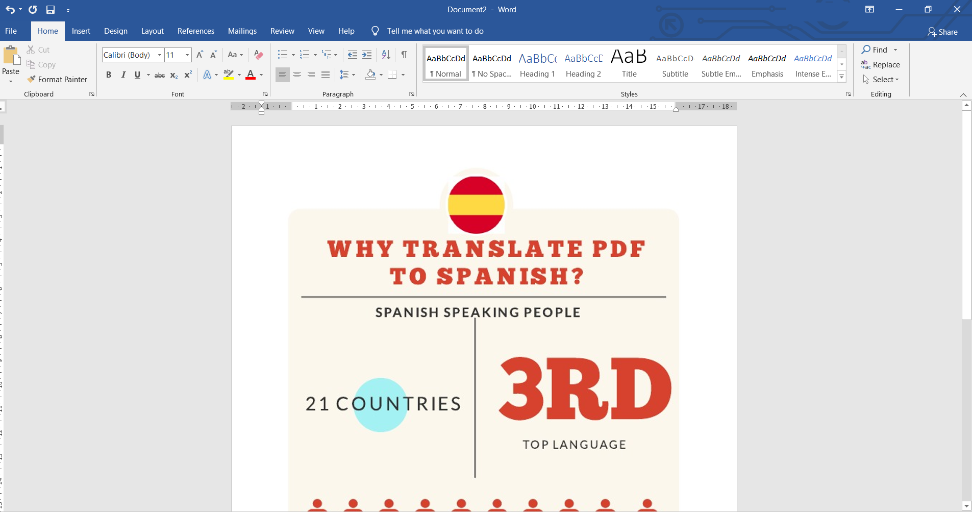 insert JPG in word and save as PDF